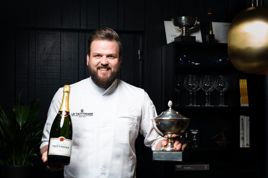 Chefkok Jan Smink van Restaurant Smink in Wolvega winnaar Nederlandse Prix Culinaire Le Taittinger